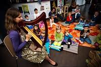 Harfa i tańczący skrzat - bajkowy koncert w Kofifi